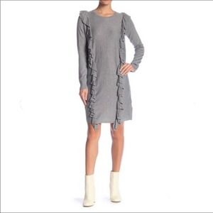 Solutions Long Sleeve Sweater Sweater Dress Gray M